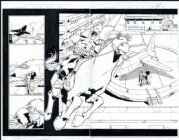 Alpha Flight # 02 Issue 2 Page 16&17 Comic Art