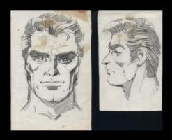 Misc. Head Sketches Comic Art