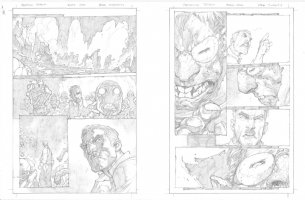 Avenging Spider-Man # 1 Issue 01 Page 19 & 20 Comic Art