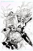 Avengers # 15 Issue 15 Page Cover Comic Art