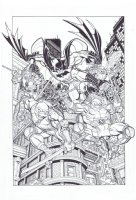 Batman / TMNT # 01 Issue 01 Page Cover Comic Art