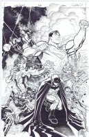 Justice League # 28 Issue 28 Page Cover Comic Art