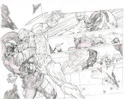 Civil War # 05 Issue 05 Page 10 & 11 Comic Art