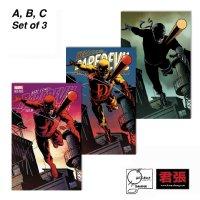 Daredevil # 600 Joe Quesada Variant A+B+C Set Issue 01 Page Cover Comic Art