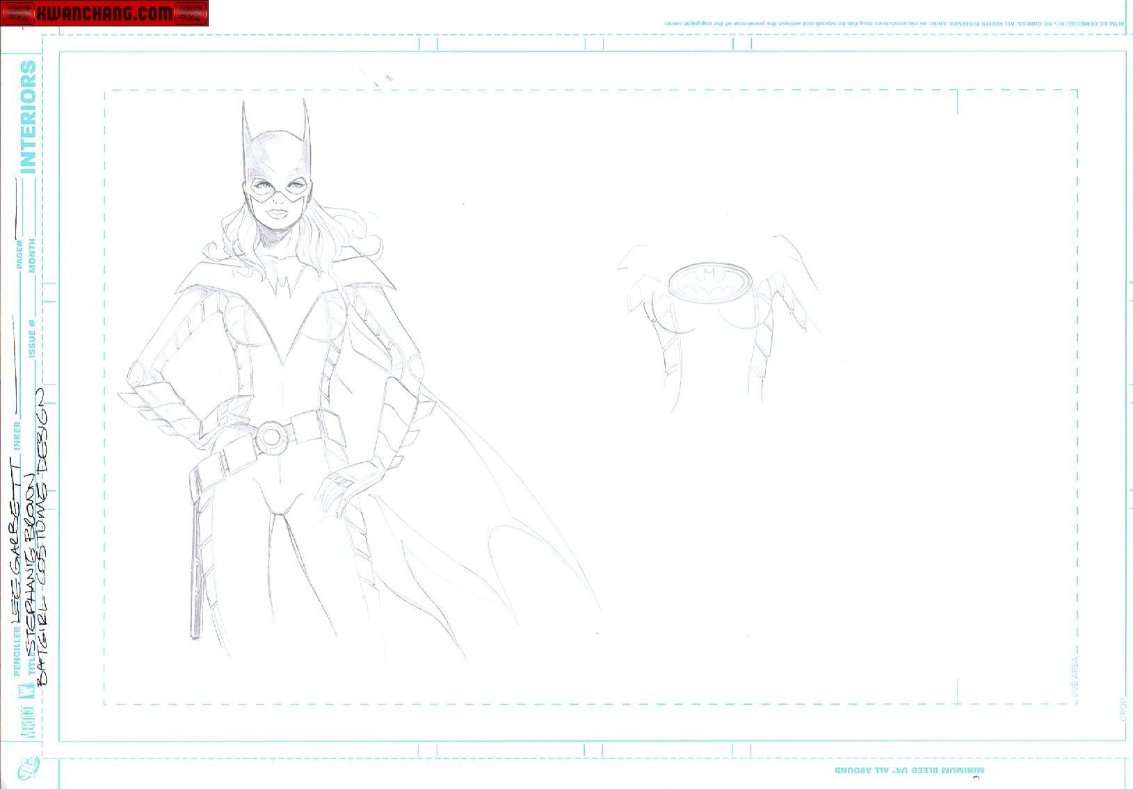 Batgirl Costume Design 1