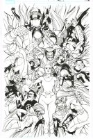 Inhumans VS. X-Men Issue 05 Page Cover Comic Art