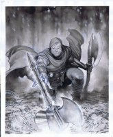 Unworthy Thor Issue 01 Page Cover Comic Art